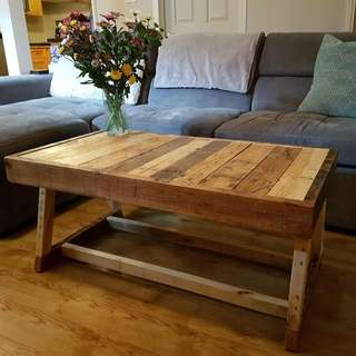 Small Reclaimed Wood Coffee Table