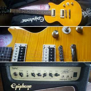 "Epiphone Slash ""afd"" Les Paul Special II + Epiphone Amp +  Korg ax3000g with adapter"