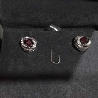 Diamond and Ruby Earring - Perfect Gift For Mothers Day!