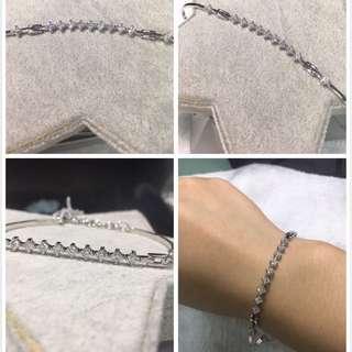 18k/750白金鑲天然鑽石手鏈