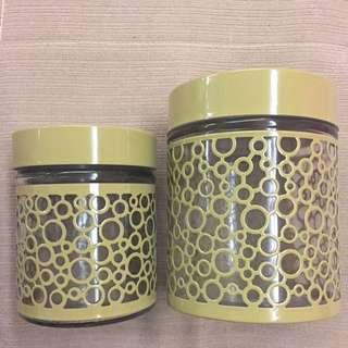 Raya Limited Design 2pcs Glass Canister Set