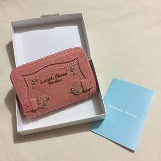 samantha thavasa 粉紅色小花石 銀包 錢包 碎紙包