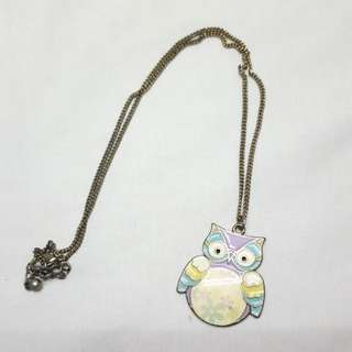 Forever 21 Pastel Owl Necklace