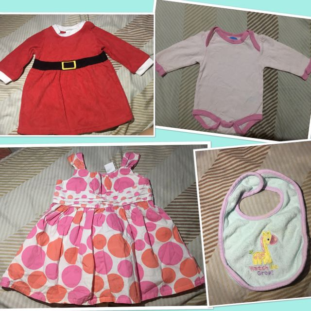 4 Set Baby Girl Dress For  0 To 3 months