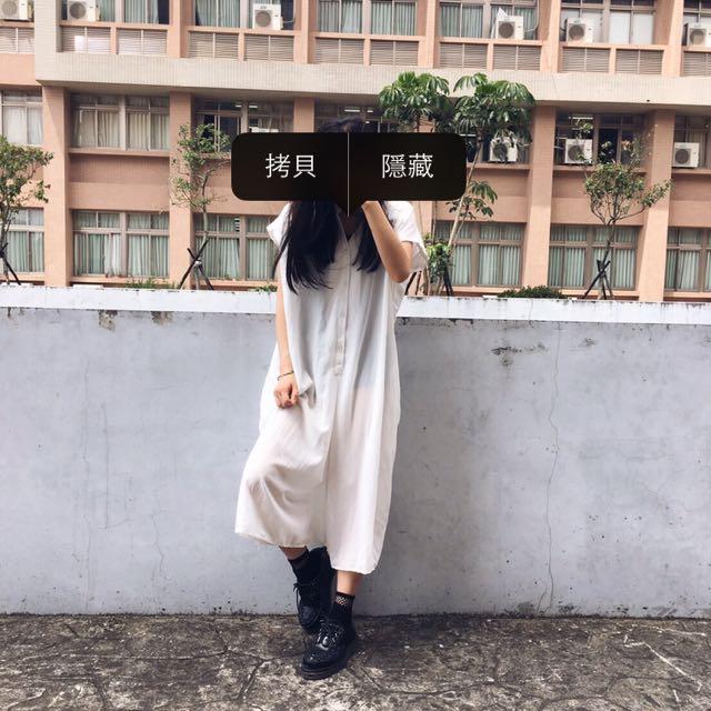 連身/透膚/白/紗質/褲裙/