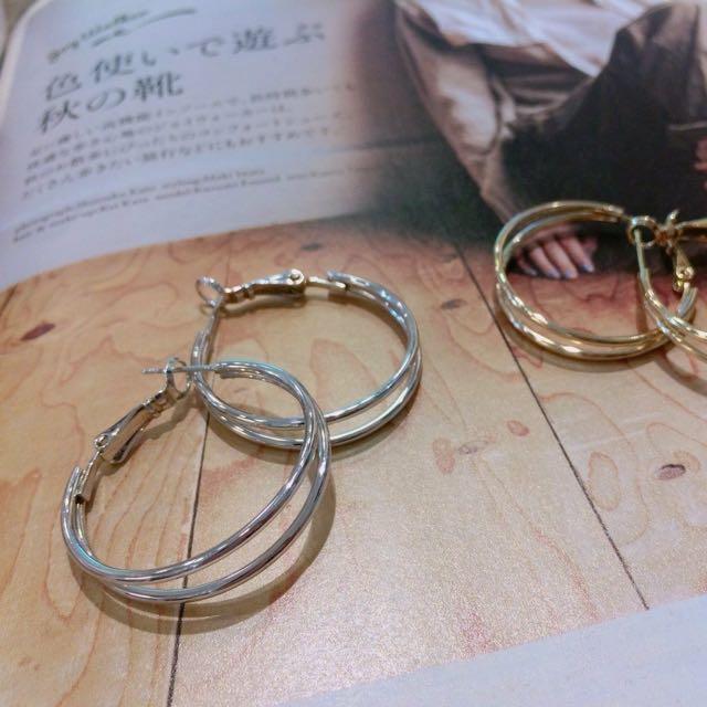 ⚫️⚪️雙圓耳環⚪️⚫️