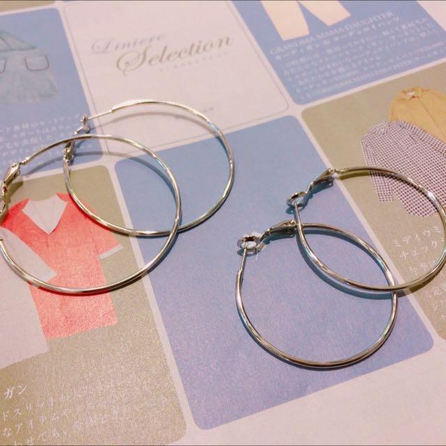 ⚪️⚫️圓形耳環⚫️⚪️