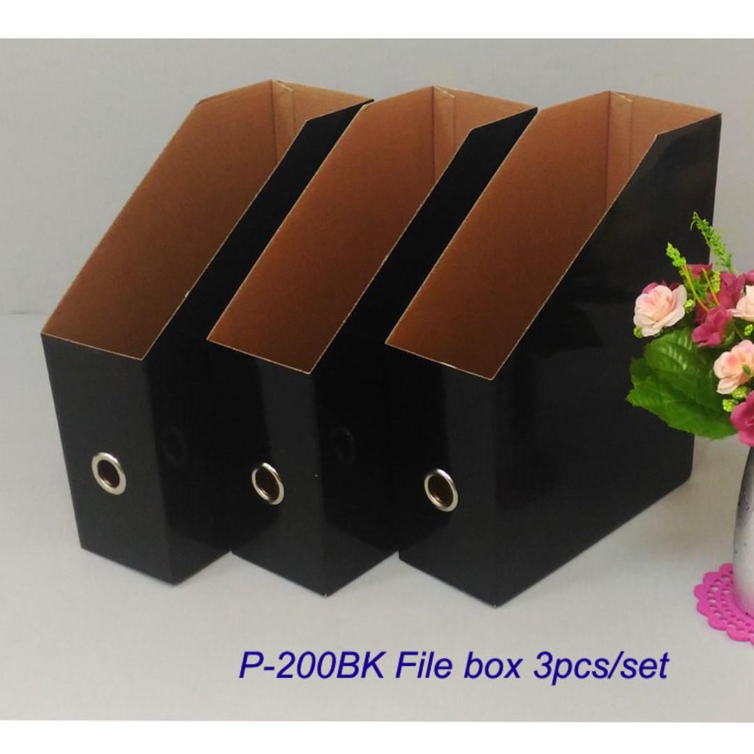 黑色系列雜誌盒 4PCS/組.