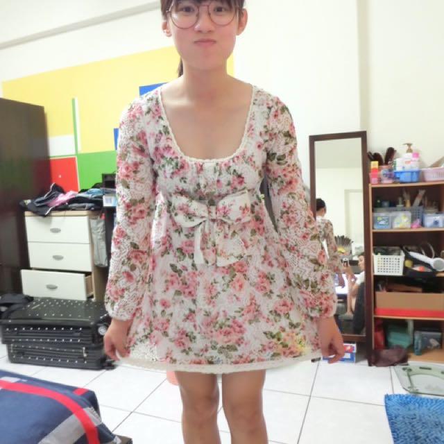 碎花 日系小洋裝
