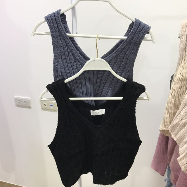 針織背心 可單穿或外搭 四色全新