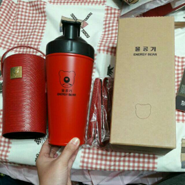 正貨 韓國 時尚智能水壺 暗紅色