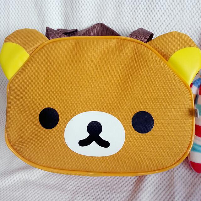 拉拉熊 頭型便當袋 造型萬用袋 便當袋 購物袋 提袋