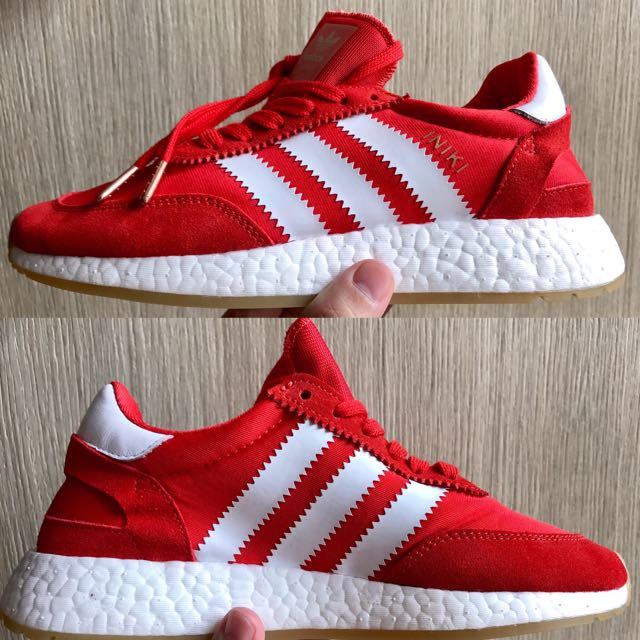 designer fashion 89c1e 6f6da Adidas Iniki Runner Boost - RED, Men s Fashion, Footwear on Carousell