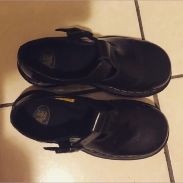 正品AE 黑色馬丁鞋 瑪莉珍 23.5-24/37/uk4