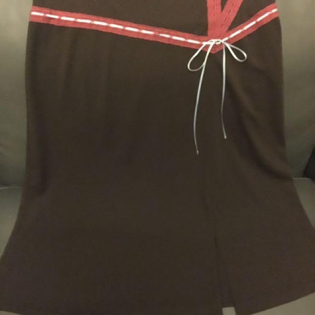 Alannah hill Chocolate Brown Skirt