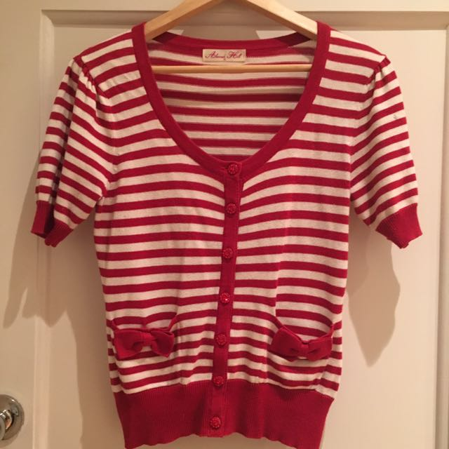 "Alannah Hill Red & White ""Broke But Beautiful"" Cardigan"