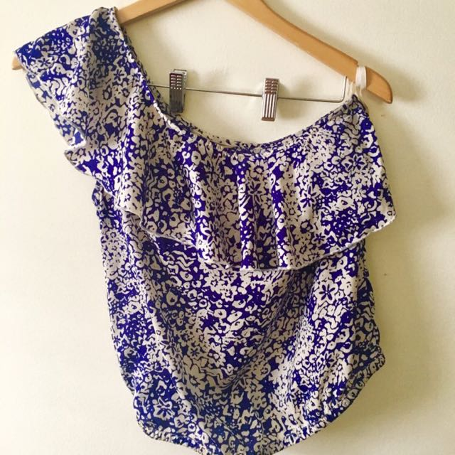 American Eagle Off The Shoulder Printed Top