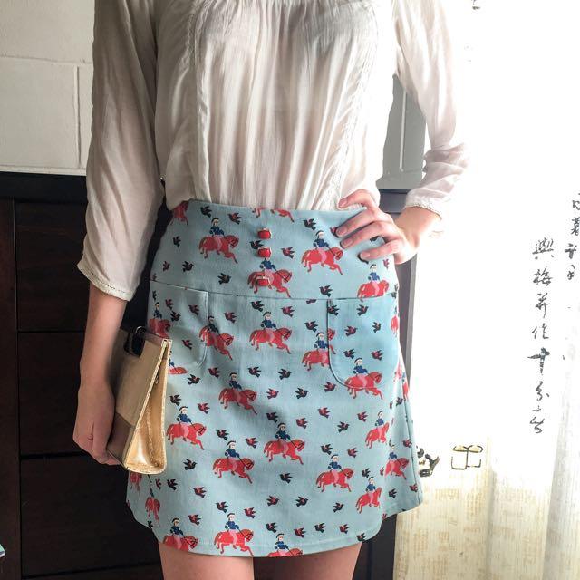 Andrea Moore High Waisted Horse Skirt