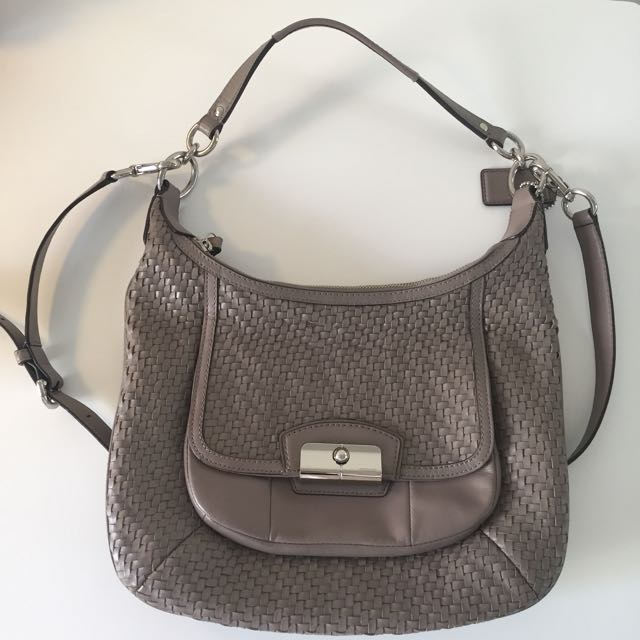 Authentic Coach Kristin woven leather Shoulder & Cross Body Bag
