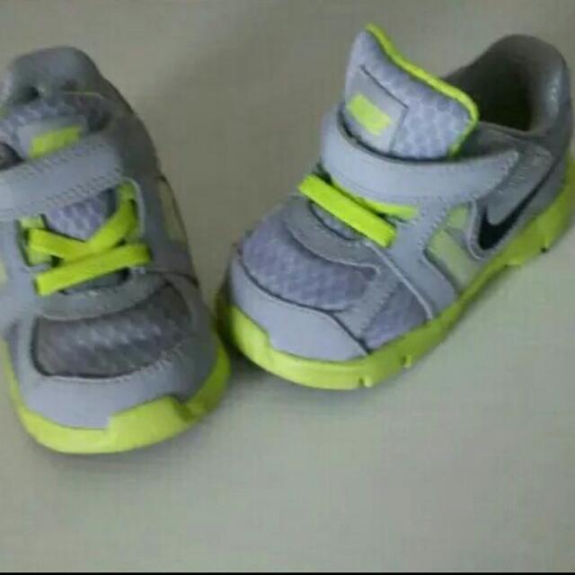 Baby Nikes Green Grey