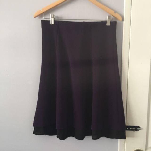 Basic Purple A Line Skirt