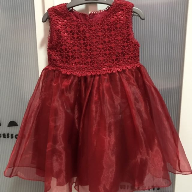 Beautiful Red Gown 1-2y