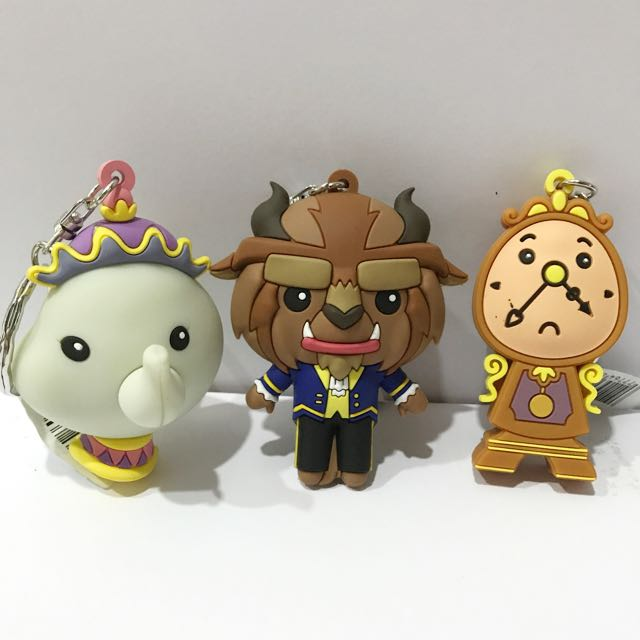Beauty and The Beast key Chains