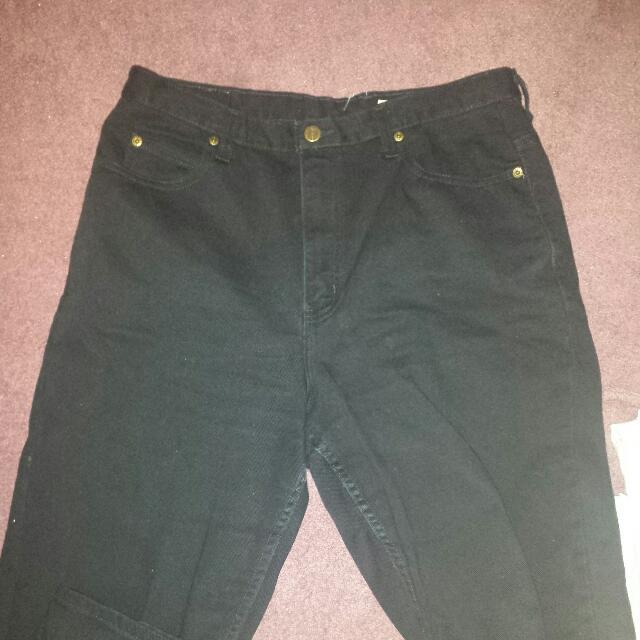 Black Denim Baggy High Waisted jeans