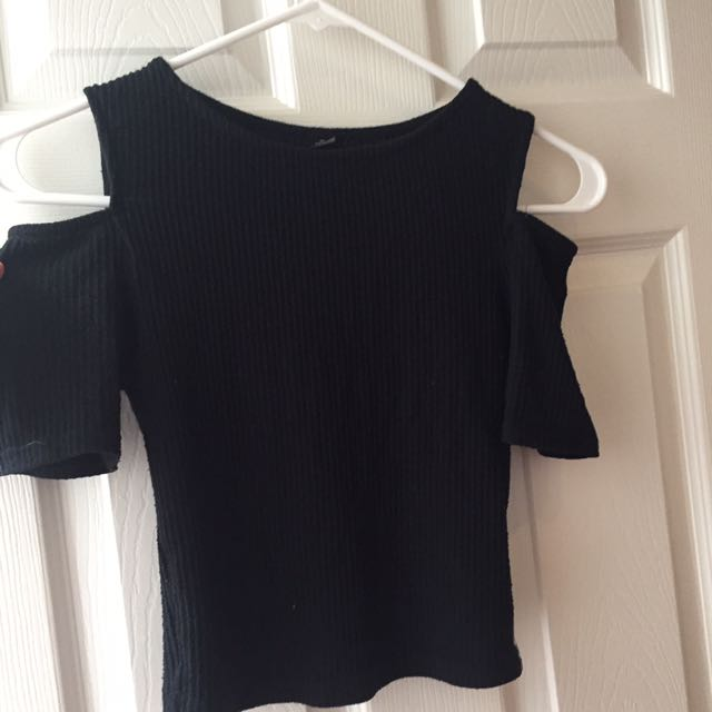 Black Off The Shoulder Shirt
