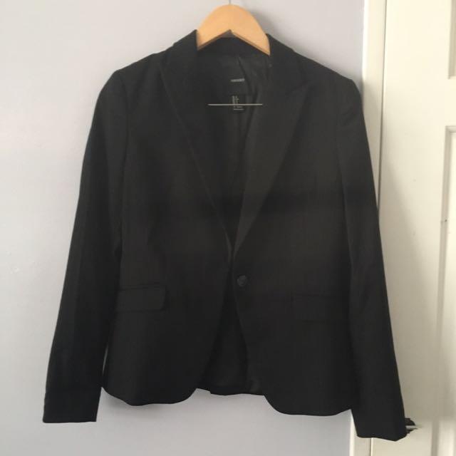 Black Pin Stripe Blazer Size s
