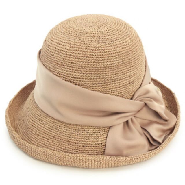 預購日本連線CA4LA人氣款蝴蝶結編織草帽