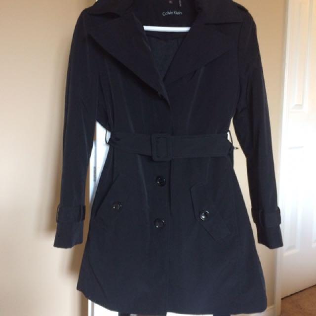 Calvein Klein Black Trench coat