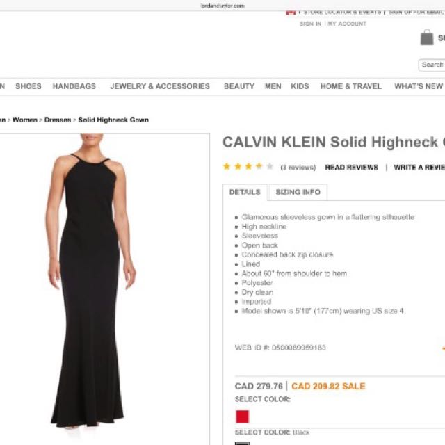 Calvin Klein Prom Dress