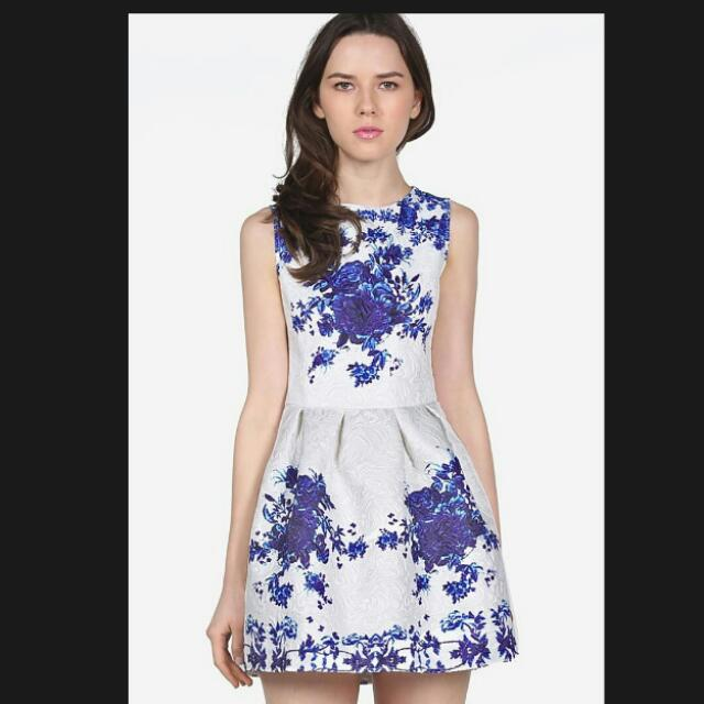 China Blue Porcelain Dress