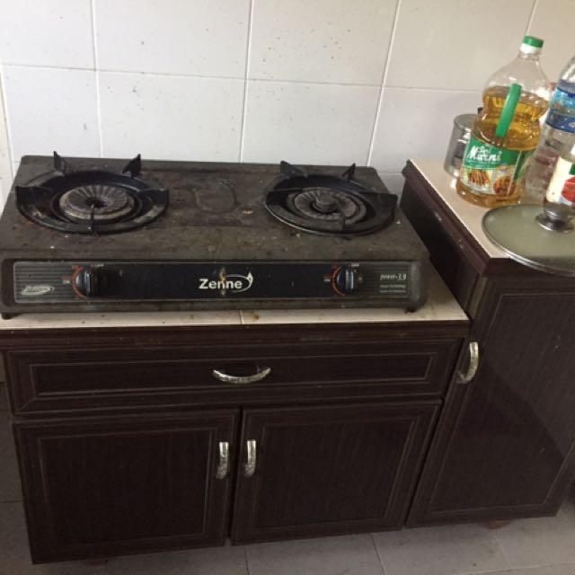 Dapur Gas Dan Rak Kabinet Marmar Kitchen Liances On Carou