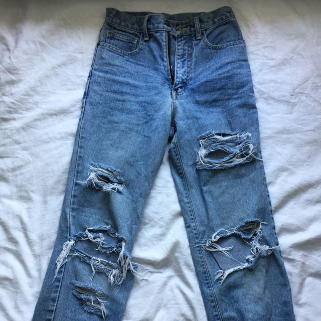 *Reserved - Distressed Mom Jean