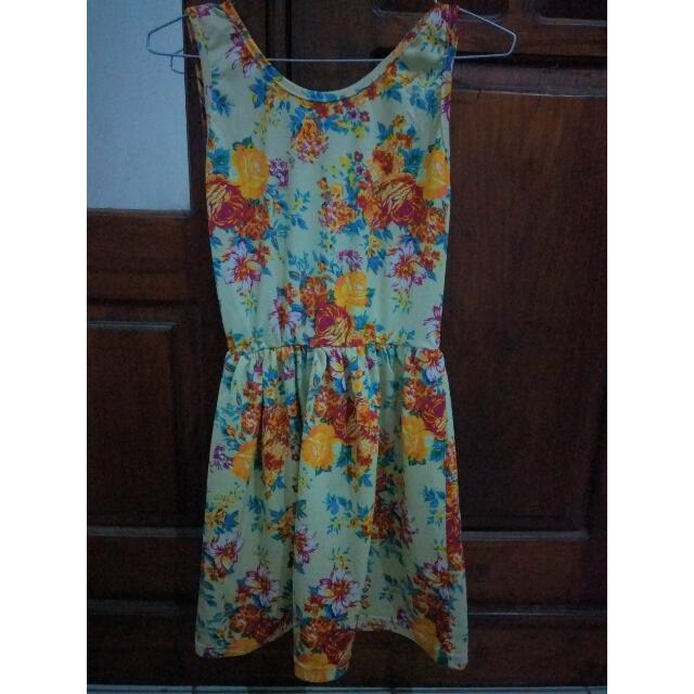 Dress Bunga(Barter Boleh)