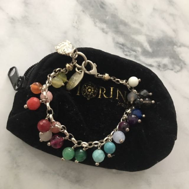 Fiorina Sterling Silver Raindrop Bracelet With Precious Coloured Stones