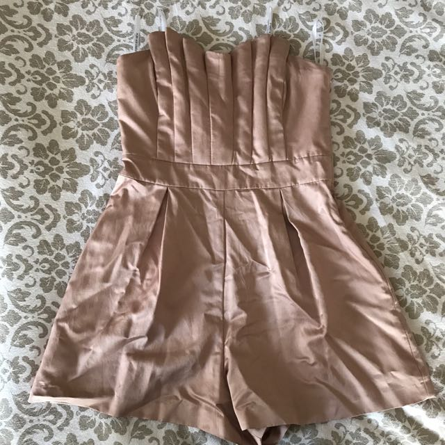 Forever New Blush Rose Gold Playsuit
