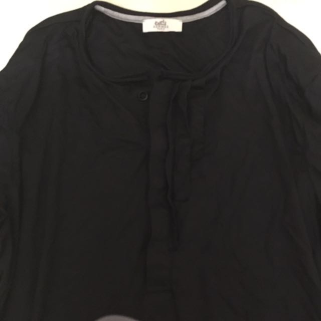 Hermes Vic Frill Shirt With Side Zips