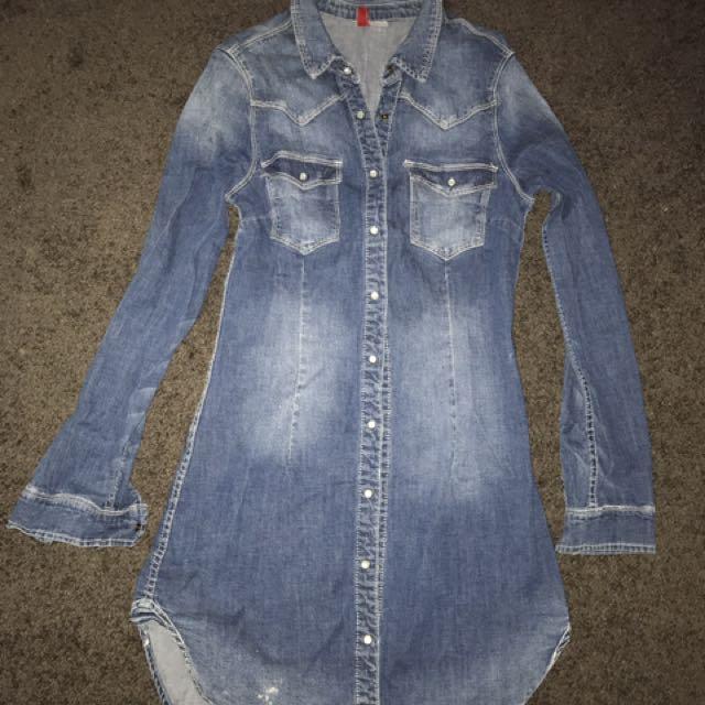H&M Mini Denim Dress