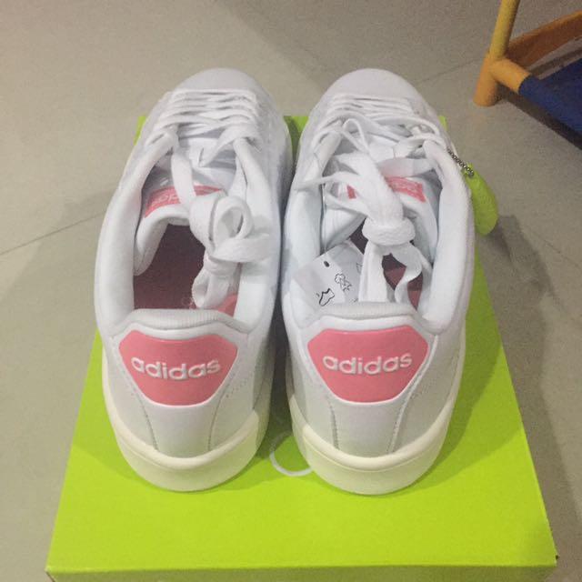 adidas advantage cloudfoam pink