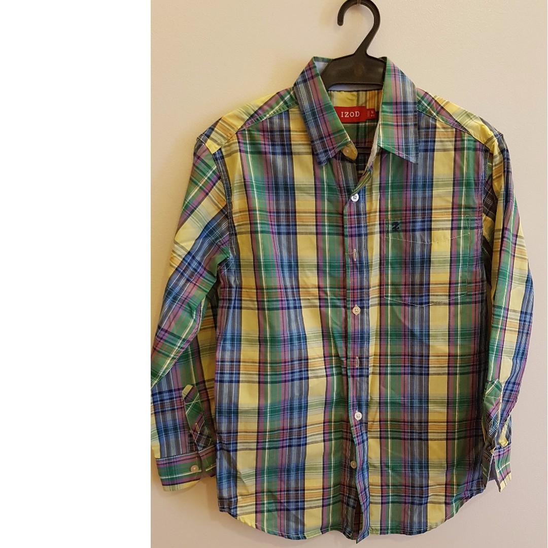 Plaid Button Down Long Sleeved Shirt
