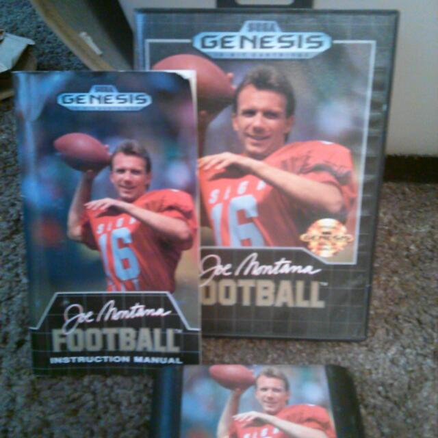 Joe Montana football for sega genesis