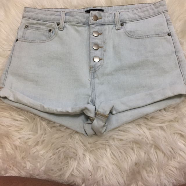 Light Washed Shorts | Forever 21
