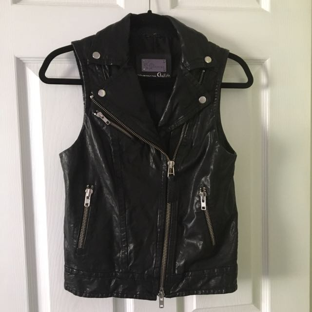 Mackage Leather Vest Exclusive To Aritzia