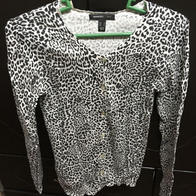 Mango Leopard Cardigan