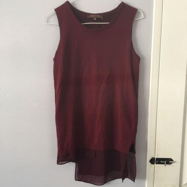 Melanie Lynn Asymmetric Sweater Top