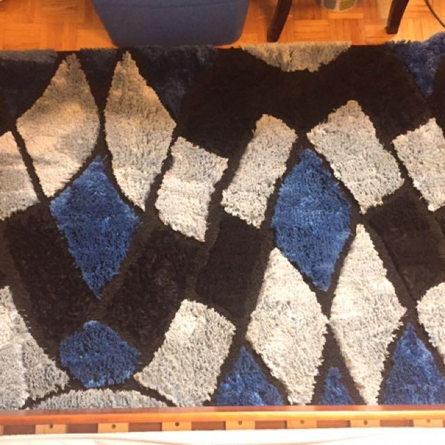Mosaic Print Blue Fleece Ruf