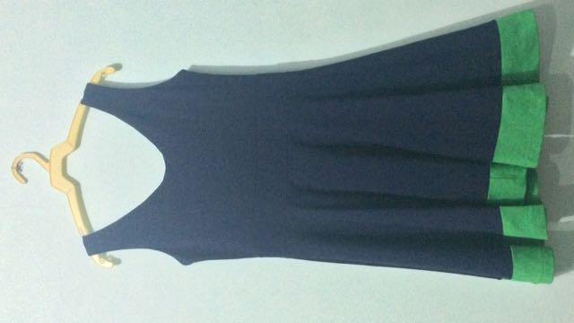 Navy Flare Dress